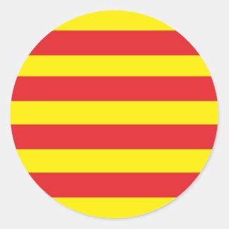"""Round sticker Catalan Flag """"Serenya """""""