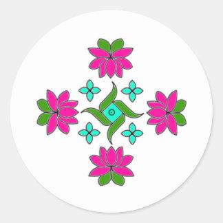 Round Sticker-Flower Series 80 Classic Round Sticker