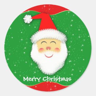 Round sticker - Santa Claus