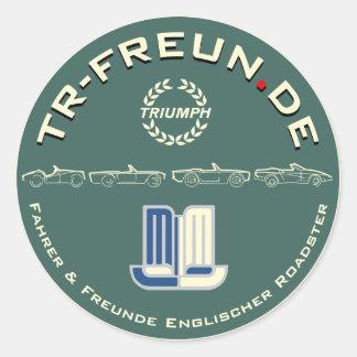 Round sticker TR-Freun.de