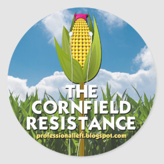 Round Stickers (6) - The Cornfield Resistance
