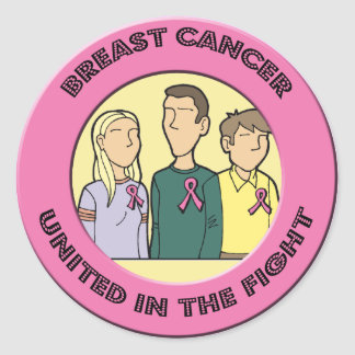 Round Stickers - Breast Cancer Fight