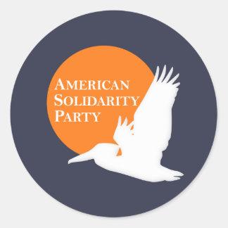 Round Stickers with Orange & White ASP Logo