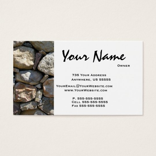Round Stone Masonry Business Cards | Zazzle.ca