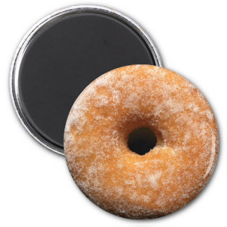 Round sugar-coated donut magnet