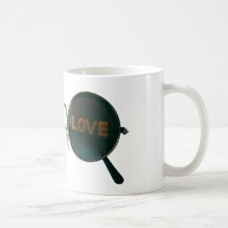 Round Sunglasses Coffee Mugs