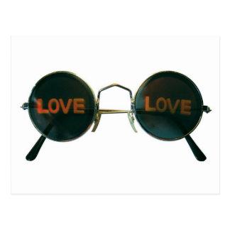 Round Sunglasses Postcard