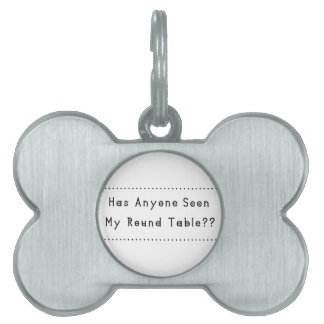 Round Table Pet Name Tag