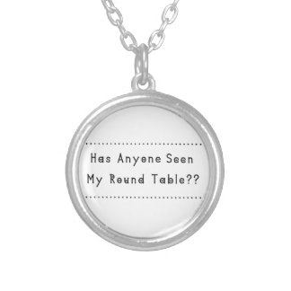 Round Table Silver Plated Necklace