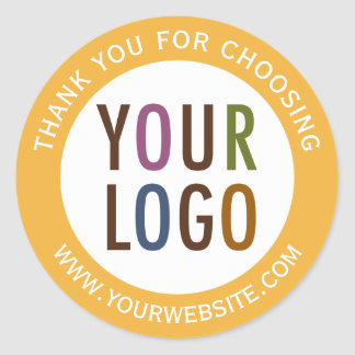 Round Thank You Stickers Company Logo Promotional