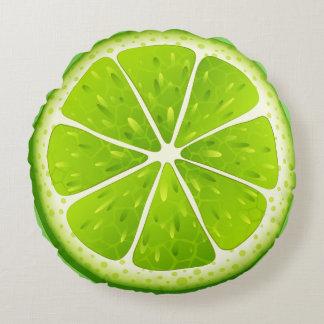 Round Throw Pillow-Lime Round Pillow