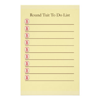 Round Tuit Stationery