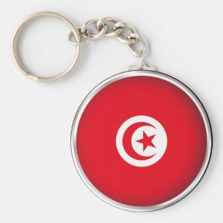 Round Tunisia Keychain