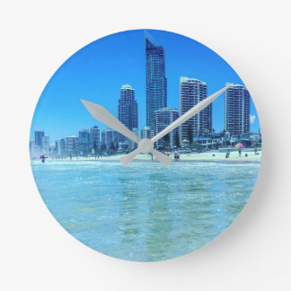 Round Wall clock Surfers Paradise.