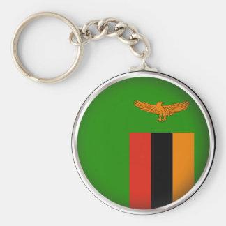 Round Zambia Keychain
