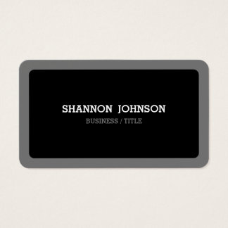 Rounded Black and Gray Minimal Modern Business Card