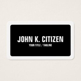 Rounded Black & White Bold Simple Business Card