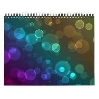 Rounded Bokeh Abstract Calendars