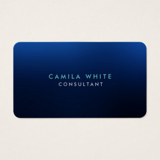 Rounded Corner Night Blue Elegant Professional Business Card