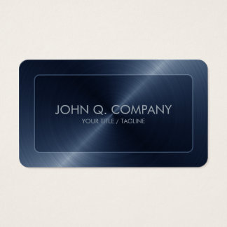 Rounded Corners Blue Steel Look Business Card