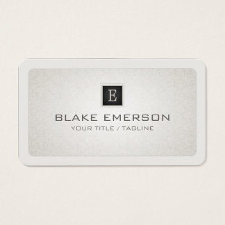Rounded Corners Custom Professional Monogram Business Card