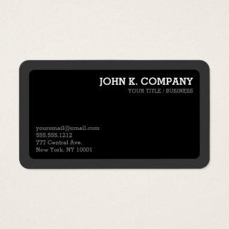 Rounded Dark Gray & Black Minimal Modern Business Card