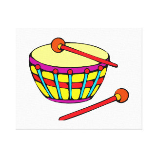 Rounded Drum Simple Version Stretched Canvas Prints