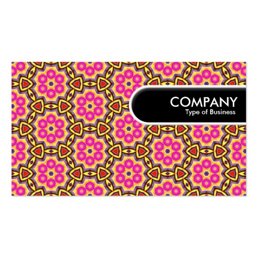 Rounded Edge Tag - Colorful Geometric 02 Business Cards