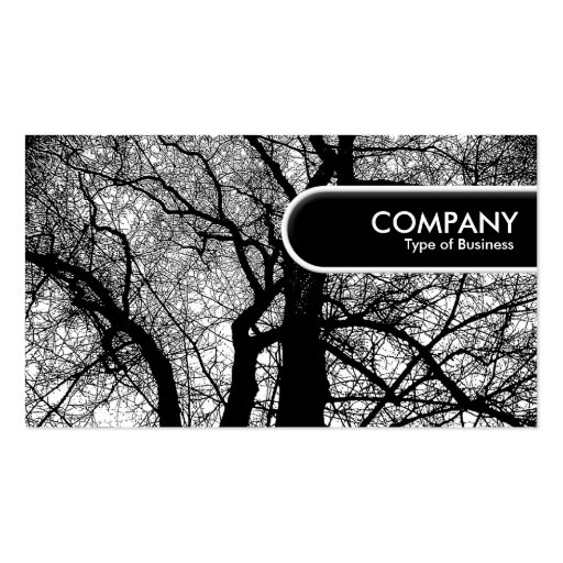 Rounded Edge Tag - High Contrast Tre Business Card Template