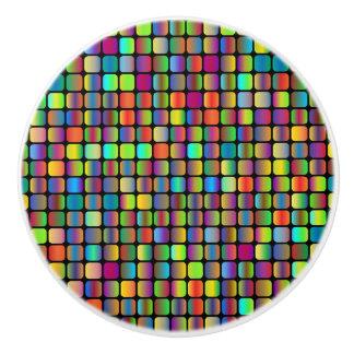 Rounded Squares Ceramic Knob