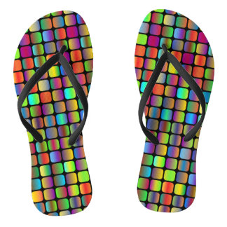 Rounded Squares Flip Flops