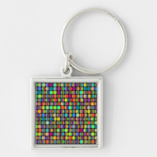Rounded Squares Keychain