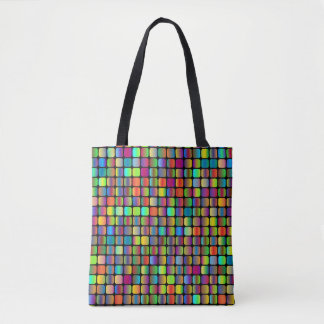 Rounded Squares Tote Bag