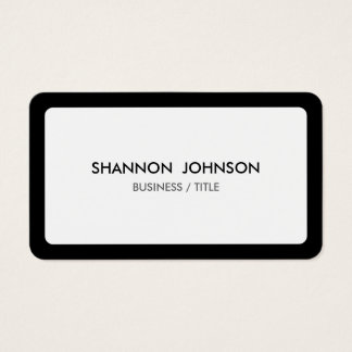 Rounded White and Black Border Minimal Business Card