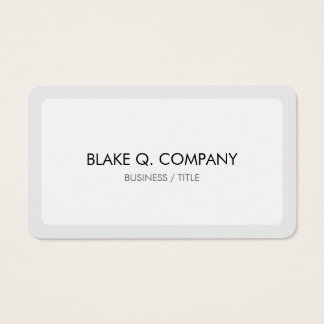 Rounded White and Light Gray Border Minimal Business Card