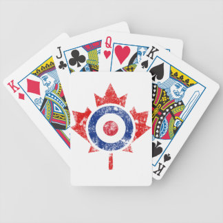 Roundel Canada Curling Hockey Target Grunge Ice Bicycle Poker Cards