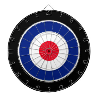 Roundel Graphic on Black Dart Boards