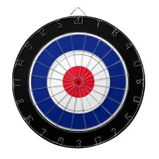 Roundel Graphic on Black Dartboard