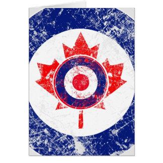 Roundel Target Grunge Maple Leaf Greeting Card