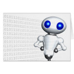 ROUNDER WITH BINARY CODE GREETING CARD