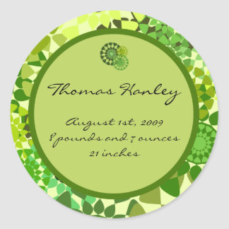 Rounds Birth Announcement Label