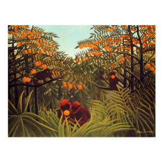 Rousseau Apes in the Orange Grove Postcard