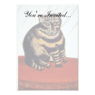 Rousseau - le chat de tigre carton d'invitation  12,7 cm x 17,78 cm