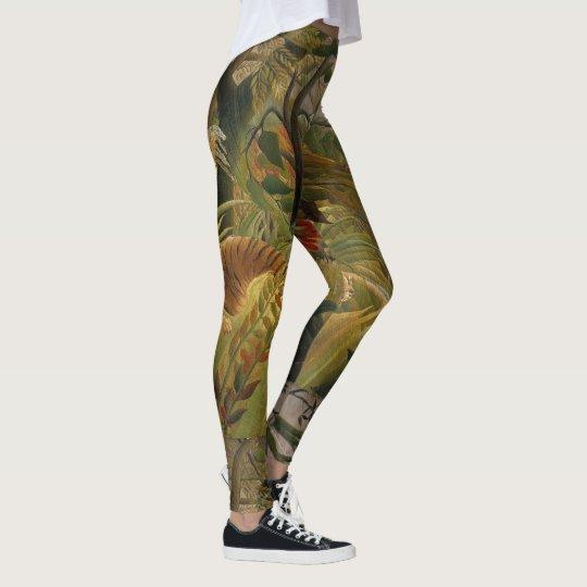 Rousseau's Tiger art leggings