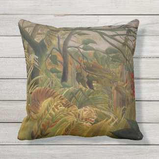Rousseau's Tiger throw pillow
