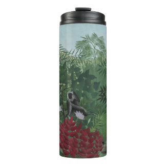 Rousseau Tropical Forest with Monkeys Tumbler