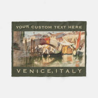 Roussoff's Venice custom fleece blanket