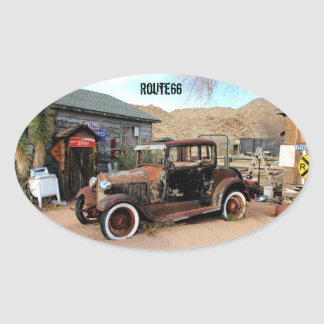Route66 Hackberry Oval Sticker