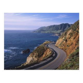 Route 1 le long de la côte de la Californie près Cartes Postales