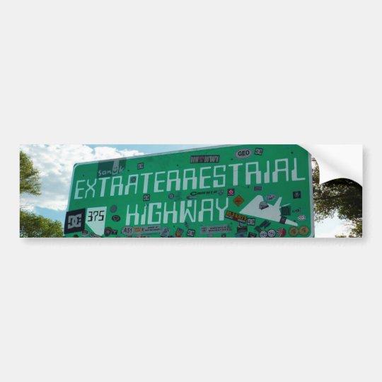 """Route 375"", ""Extraterrestrial Highway"" Bumper Bumper Sticker"